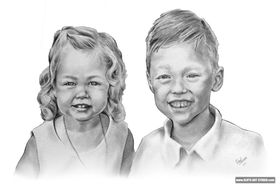 Graphite Portrait Drawing Sketch